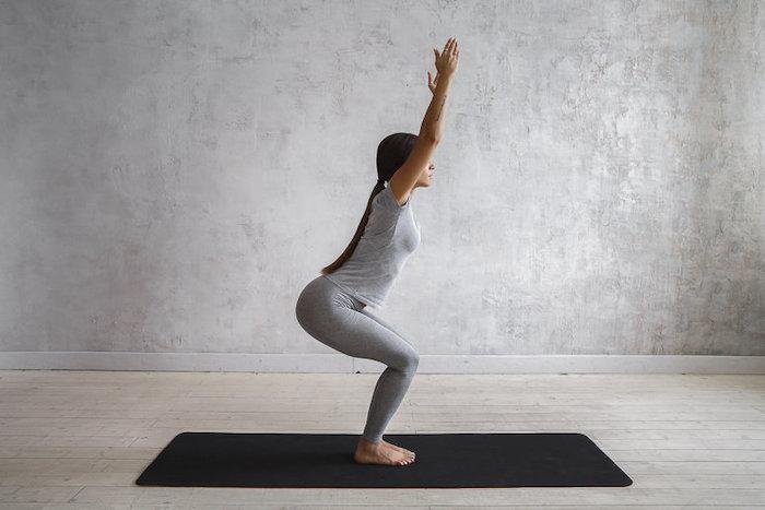 йога для похудения уткатасана поза стула